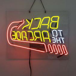 Real Glass Display Neon Signs back to arcade 19X15-002