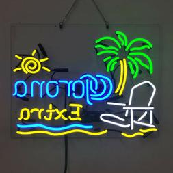 Real Glass Display Neon Signs Corona Extra Parrot   19x15 -0