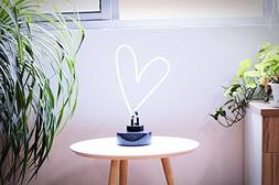 Real Glass Neon Sculpture Heart Neon Light Neon Sign 39cm x