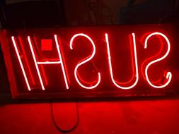 Red Neon Sushi Sign