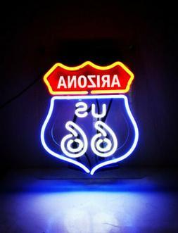 "Route 66 Arizona State AZ Neon Sign 14"" Acrylic Bright Light"