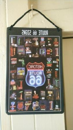 Route 66 Metal Sign of neon signs.