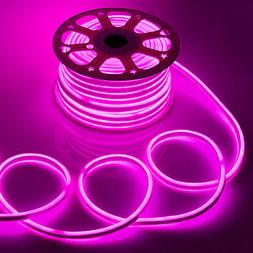 SALE! 50'FT PINK LED Neon Rope Light Flex Tube Sign In/Outdo
