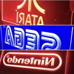 SEGA, NINTENDO, ATARI 3 ARCADE LED NEON LIGHT SIGNS for ManC