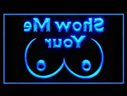 C B Signs Show Me Your Tits Man Cave LED Sign Neon Light Sig