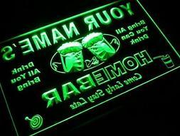 """Sign Design """" Home Bar """" Your Own Light Custom 12"""" x 8.5"""" Ne"""