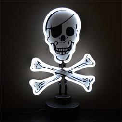 Neonetics Skull and Crossbones Neon Sign Sculpture