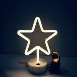 Star LED Neon Lamp Light Battery/USB Operated Neon Signs Hom