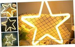 Star Neon Light Signs Warm White Neon Wall Light up Sign Art