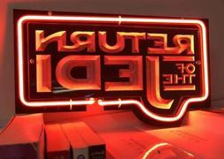 Neon Sign RETURN OF JEDI Star Wars Movie DVD Poster Novelty
