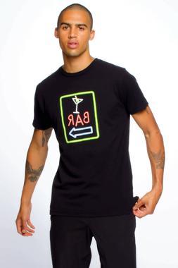 SUB_URBAN RIOT Black Bar Sign Neon Soft Cotton T-Shirt **NEW