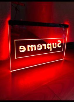 SUPREME LED NEON LIGHT SIGN 8x12