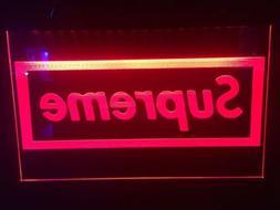 Supreme Led Neon Light Sign Garage  Game Room Man Cave