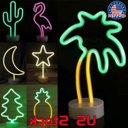Table Lamp Neon Sign Photography Props LED Night Light Flami