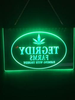 Tegridy Weed Marijuana Led Neon Light Sign Bed  Game Room Ma
