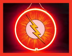 The Flash Hub Bar  Display Advertising Neon Sign