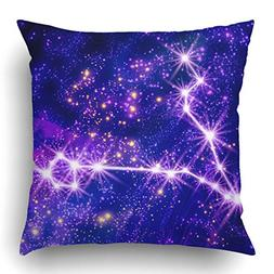 Emvency Throw Pillow Covers Blue Abstract Constellation Pisc