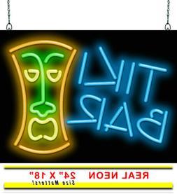 "Tiki Bar Neon Sign   Jantec   24"" Wide x 18"" High   Hand Ben"