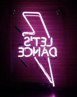 TN326 Let's Dance Lightning Flash Fun Poster Decor Neon Ligh