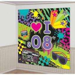 Totally 80s Giant Scene Setter Wall Decorating Kit Birthday