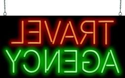 "Travel Agency Neon Sign | Jantec | 32"" x 16"" | Trip Adviser"