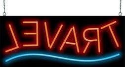 "Travel Neon Sign | Jantec | 32"" x 13"" | Vacation Agent Plann"