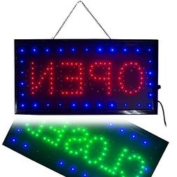 Ovovo Ultra Bright LED 2 in 1 Open Closed Sign, Business Sig