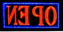 Ultra Bright LED Neon Light Animated Motion OPEN Business Si
