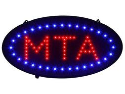"""TMS 19""""x10"""" Ultra Bright LED Neon Light Animated Motion ON/O"""