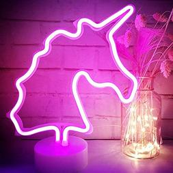 LED Unicorn Neon Light Pink Signs - XIYUNTE Room Decor Unico
