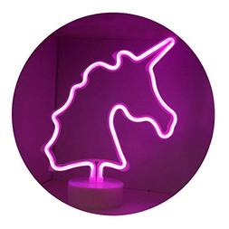Pooqla Unicorn Neon Signs, LED Neon Light Sign with Holder B