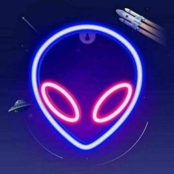 USB LED Alien Neon Wall Sign Cool Light Art Decor Accessorie