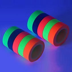 UV Blacklight Tape - Neon Gaffer Cloth Tape - 10-Pack - 164