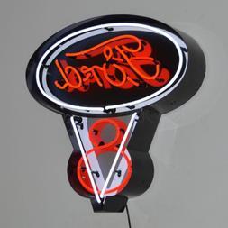 Ford V8 Vintage Look LED OLP Light Car Dealer Neon Sign In M