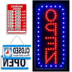 Vertical LED Neon Open Sign by Ultima LED: Bundle for Busine