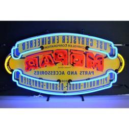 Vintage Look Mopar Shield Mancave Decor Neon Light Neon Sign
