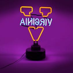 VIRGINIA CAVALIERS NEON SIGN LIGHT TABLE TOP LAMP UNIVERSITY