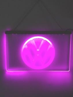Volkswagen Purple VW LED Neon Sign Light Bar Pub Luminous Ma