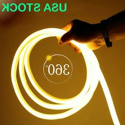 Warm White 360 Degree LED Neon Rope Light DIY AD Sign Home D