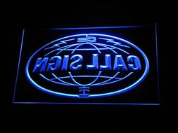 wc-tm Custom Call Sign World Amateur Radio On Air Neon Sign