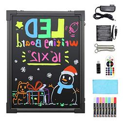 LED Writing Message Board, 16 X 12 Illuminated Erasable Neon