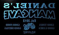 x0012-tm Daniel's Man Cave Bar Custom Personalized Name & Da