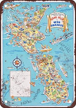 New Zealand Vintage Look Reproduction Metal Tin Sign 12X18 I